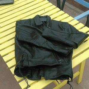 Genuine heavy Leather moto / biker jacket